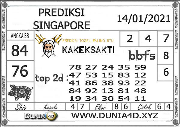 Prediksi Togel SINGAPORE DUNIA4D 14 JANUARI 2021