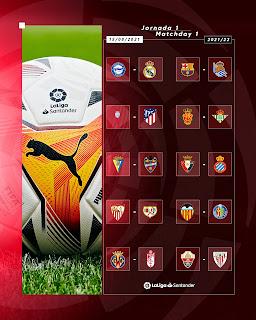 جدول مباريات الجولة الأولى من الدوري الاسباني للموسم الجديد 2022