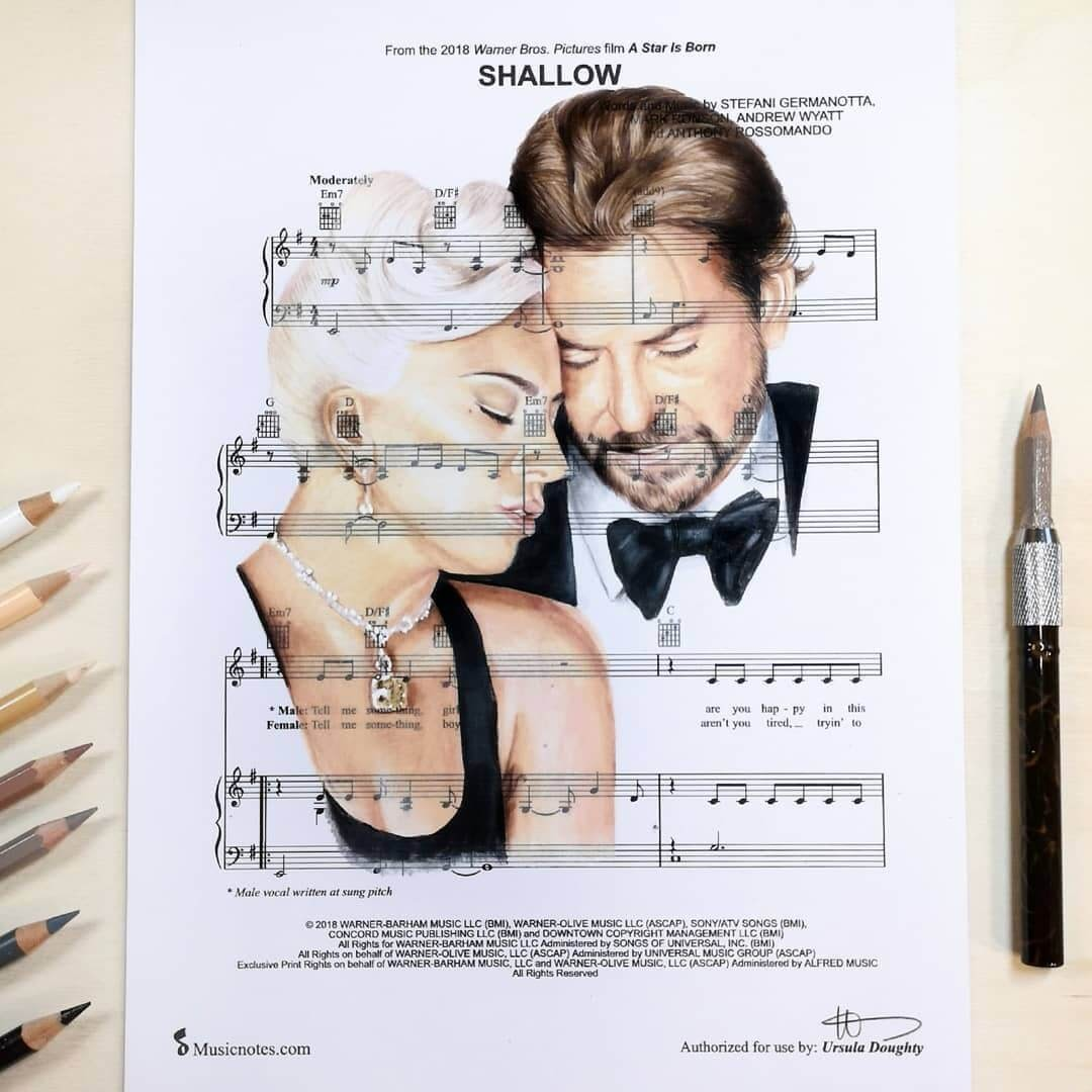 01-Shallow-U-Doughty-Movie-Character-Drawings-on-Music-Sheets-www-designstack-co