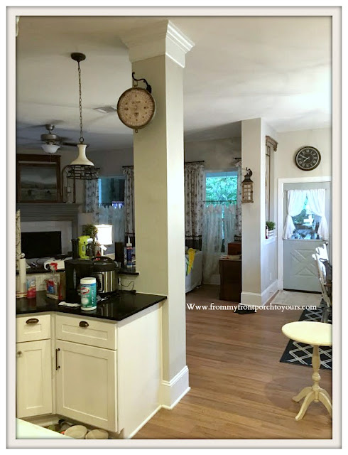 DIY Brick Project-Kitchen-Column-Adding-Character-Thin-Brick-From My Front Porch To Yours