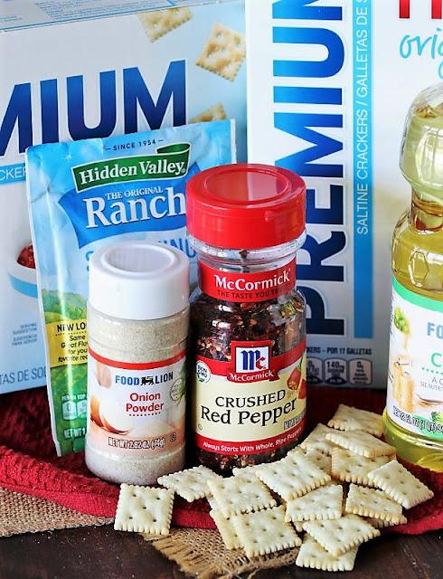 Fire Crackers Seasoned Saltines Ingredients Image