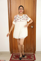 Lavanya Tripathi in Summer Style Spicy Short White Dress at her Interview  Exclusive 291.JPG