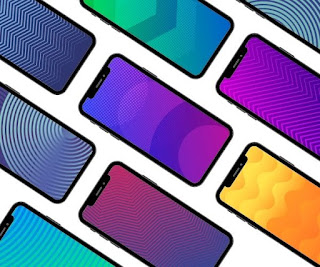 33 simple geometric gradient wallpapers in 1080p and 4K