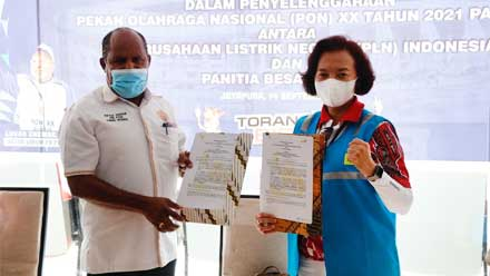 perjanjian sponsorship penyelenggaraan PON XX Papua