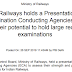 Ministry of Railways Notice Regarding holds a Presentation Session with Examination Conducting Agencies (ECA)