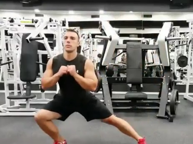 Side lunges exercise