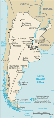 Printable Argentina Map Outline