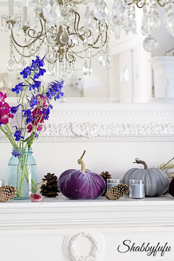 fall mantel elegant farmhouse decor style