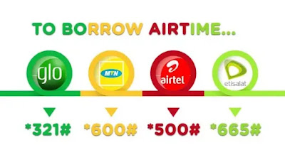 How to Borrow Airtime from MTN, 9MOBILE , GLO and AIRTEL