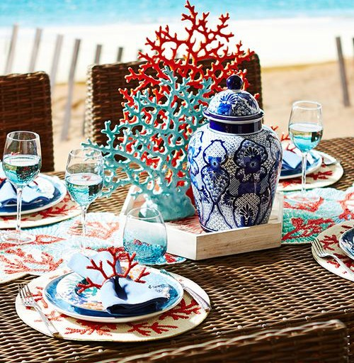 5 Coastal Amp Nautical Theme Table Setting Ideas From Pier 1