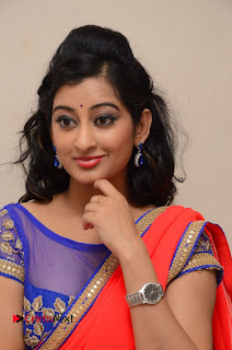 Actress Tejaswini Pictures in Saree at Pratikshanam Audio Launch  0007.JPG