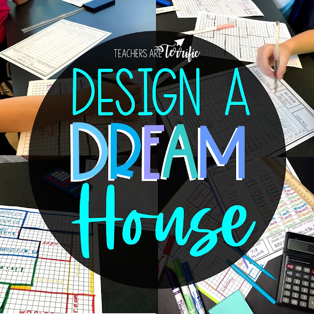 STEM Challenge- Using graph paper students design their dream house, calculate the area of each room, and then determine the final cost of the home. Fabulous practice for area and perimeter. #teachersareterrific