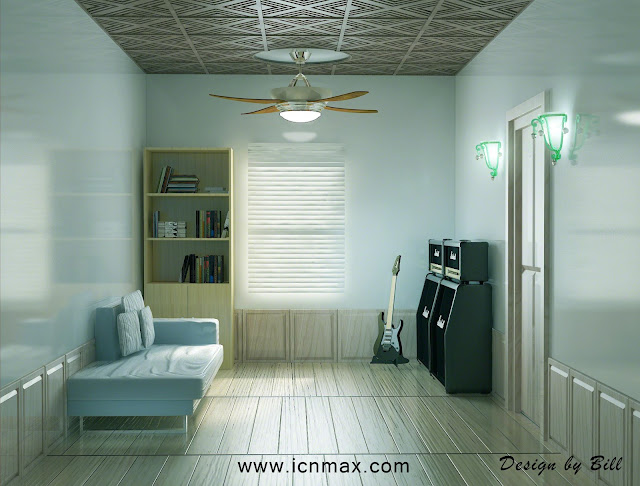 3dsMax娛樂吉他房間設計作品