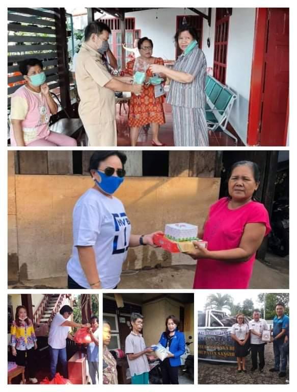 Peduli Masyarakat Berdampak Covid19, DPRD Kota Manado Turun Langsung Serahkan Bantuan