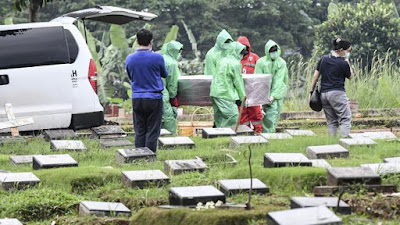 pemakaman%2Bcorona%2Bcnnindonesia%2Bcom - Setelah Meninggal dan Dikubur, Pasien Positif Corona Ini Malah Dinyatakan Sembuh!