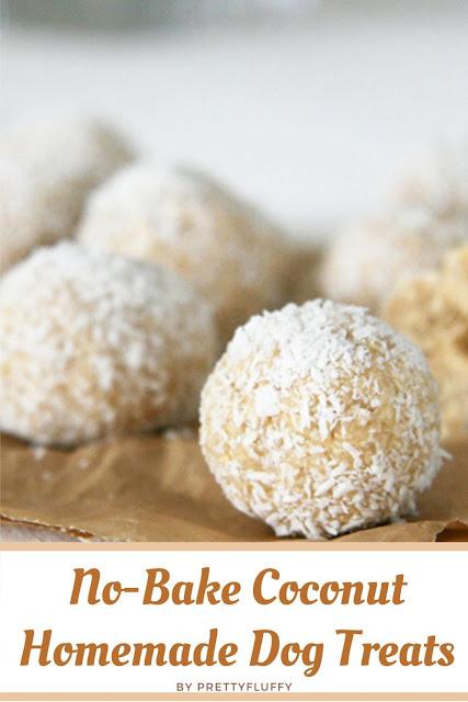 No-Bake Coconut Homemade Dog Treats
