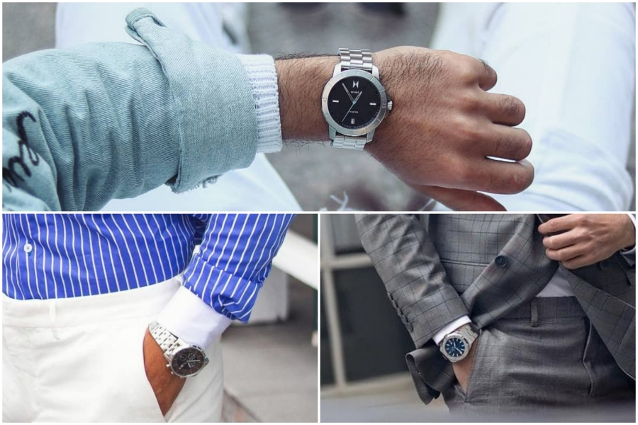 Silver with other colours watch style