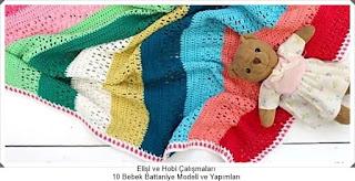 Örgü Bebek Battaniye Modelleri - Tığ işi Battaniye Modelleri 8
