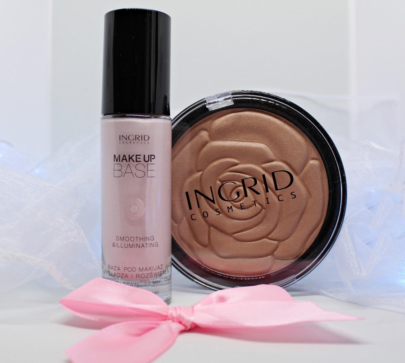Baza wygładzająco-rozświetlająca oraz puder brązujący INGRID cosmetics