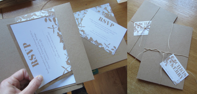 kraft wedding stationery