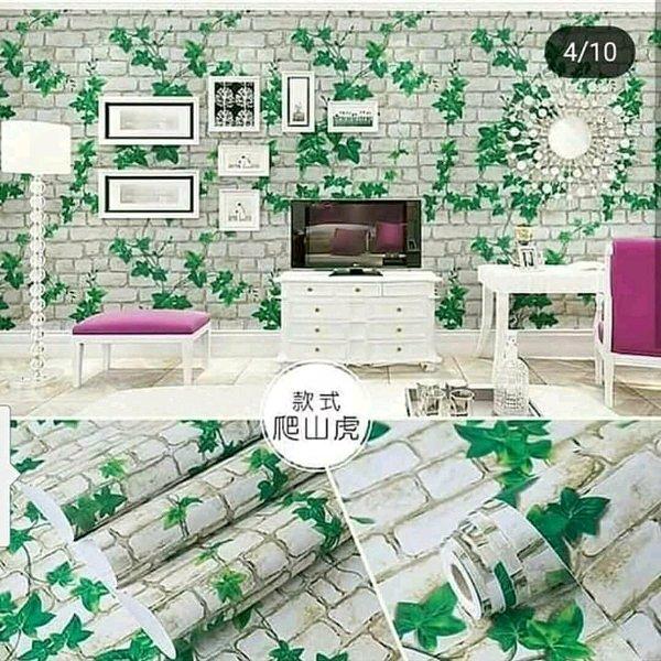 Wallpaper Dinding Bata Rambut Anggun 10 meter majalengka