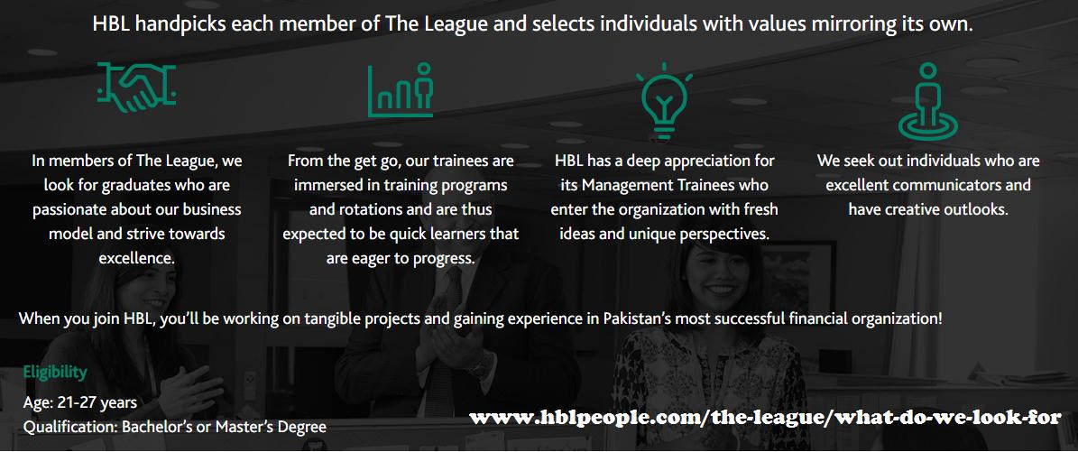 HBL The league Internship 2019, HBL Management Trainee programme The League 2019 Feb, hbl people jobs 2019 psl league internship 2019