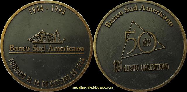 Medalla Banco Sudamericano