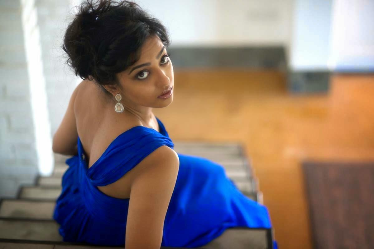 Radhika Apte Latest Photo Shoot Stills In Blue Dress