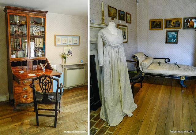 Interior da casa de Jane Austen