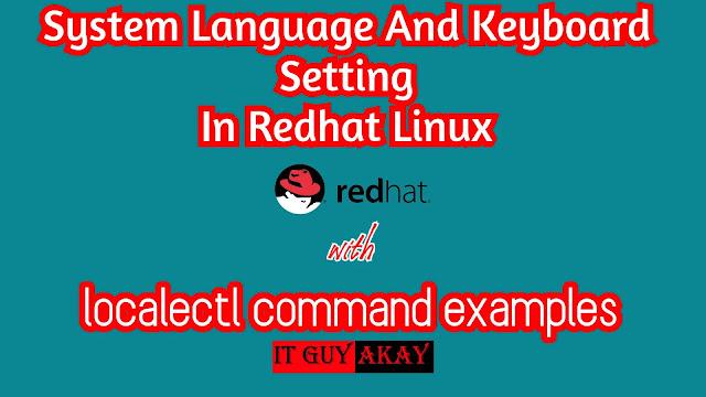 system language and  keyboard setting configuration