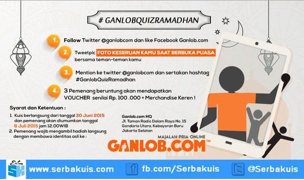 Ganlob Quiz Ramadhan Berhadiah 3 Voucher + merchandise
