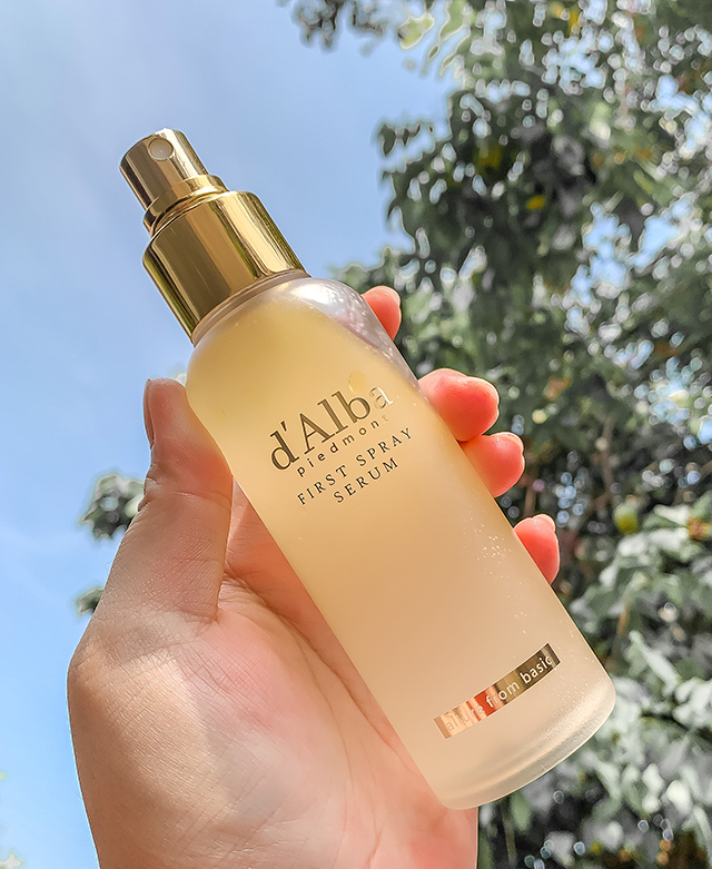 d'alba first spray serum