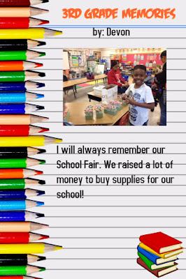 Use the free website, PosterMyWall, to create end of the year memory posters.