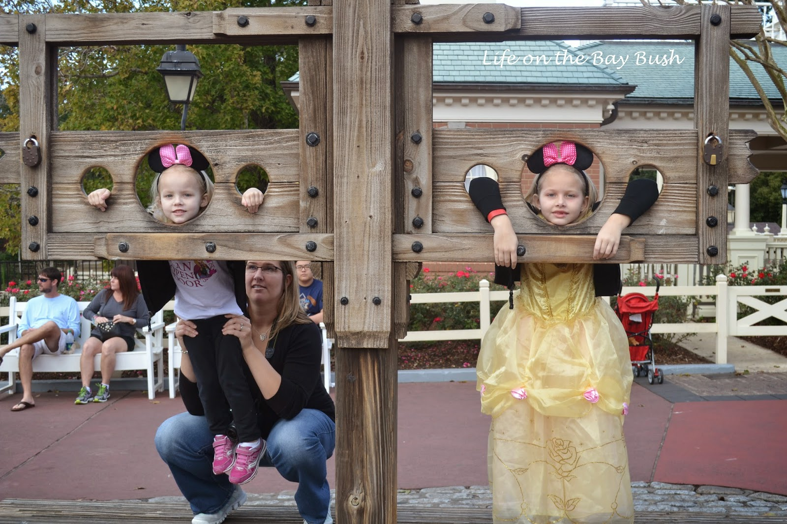 In the stocks at the Magic Kingdom