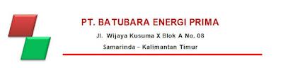 Lowongan Kerja Kaltim  PT. Batubara Energi Prima  Terbaru Tahun 2021