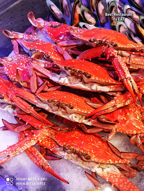 Kontiki Seafood BBQ Buffet Menu -Seafood on Ice - Crabs