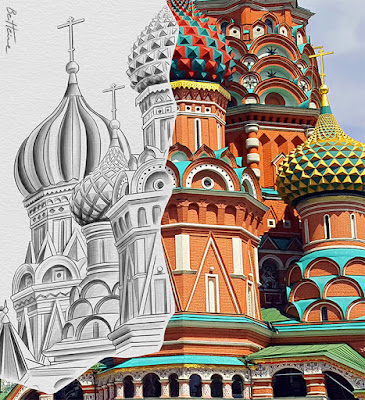 pencil vs camera - st basil cathedral - benheinerussia