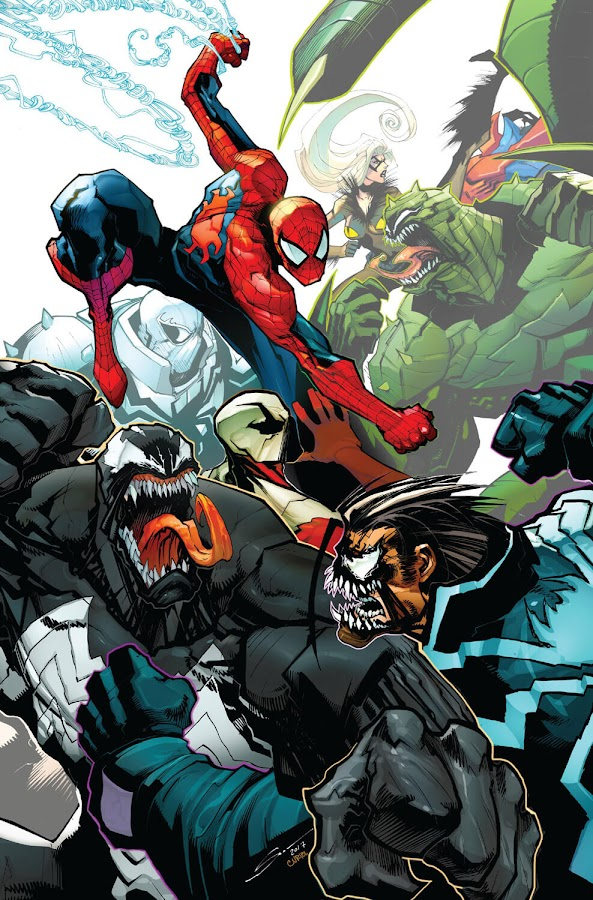 amazing spider-man venom inc. marvel comics black cat felicia hardy venom eddie brock symbiote mania andi benton anti-venom flash thompson spider-man peter parker maniac lee price inklings scorpion mac gargan maggia dan slott mike costa gerardo sandoval david curiel