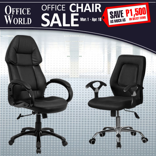 Manila Shopper: Office World by BLIMS Office Chair SALE: March ...
