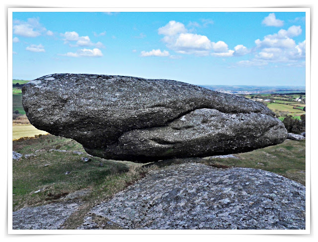 Logan stone at Helman Tor, Cornwall