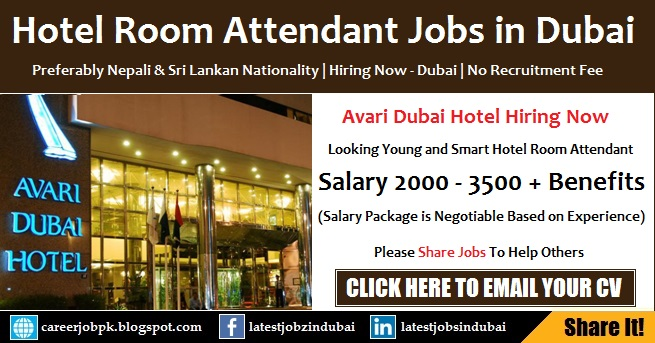 Housekeeping Room Attendant Jobs in Dubai Hotel