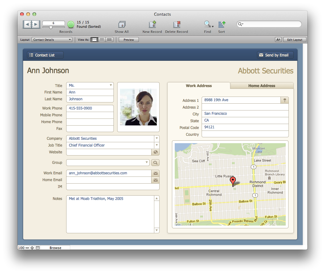 The Mac Office: Contacts: FileMaker Pro 12 Starter Solution