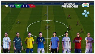 Download PES 2022 PPSSPP CONMEBOL Copa America 2021 Edition English Version & Update Transfer