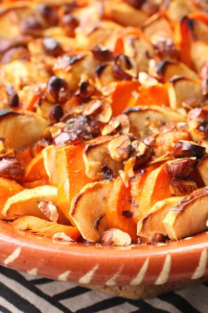pommes et patate douce cassonade