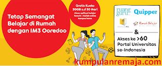 Cara mendapat Kouta Ruang Guru 30GB gratis dari Indosat Oredoo