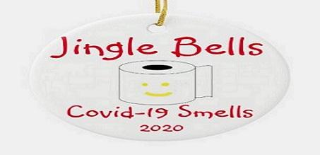 Jingle Bells Covid-19 Smells Ornament