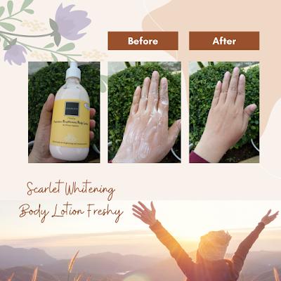 Scarlet whitening body lotion