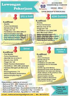 Lowongan Pekerjaan di Metoocel Surabaya Terbaru April 2019