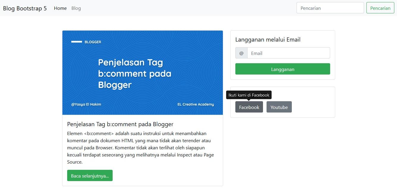 Konten Tooltip 2 Bootstrap 5