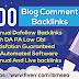 I will create 200 dofollow blog comments SEO service backlinks